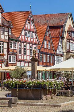 Vakwerkhuizen aan de Großer Plan, Oude Stad, Celle, Lüneburger Heide, Nedersaksen, Duitsland, Europa van Torsten Krüger