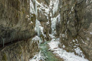 Partnachklamm in de winter van Michael Valjak
