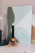 Kundenfoto: Retro Abstract IV, Danhui Nai von Wild Apple, auf alu-dibond