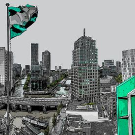 Rotterdam vanaf het Witte Huis von Rene Ladenius Digital Art