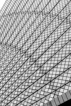 Architektonisches Detail des Sydney Operahouse, Australien von Rietje Bulthuis