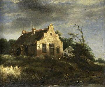 Bauernhaus in waldiger Dünenlandschaft, Jacob Isaacksz. van Ruisdael von