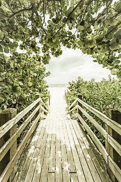 Brücke zum Strand | Vintage von Melanie Viola
