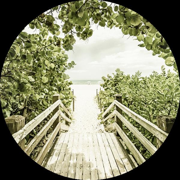 Bridge to the Beach   Vintage van Melanie Viola