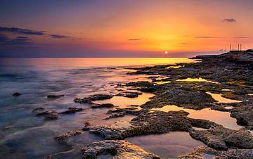 Sonnenuntergang in Paphos, Zypern von Adelheid Smitt