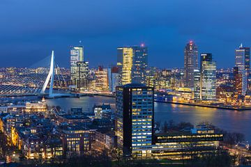 Skyline Rotterdam van Pieter Geevers