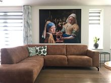 Kundenfoto: Das Mädchen mit dem Perlenohrgehänge - das Milchmädche - Johannes Vermeer von Lia Morcus, auf hd metal