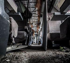 Abandoned Eurostar-train set