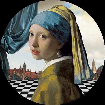Meisje met de Parel - Gezicht op Delft Editie van Marja van den Hurk