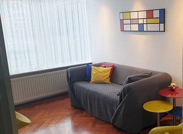 Kundenfoto: Piet Mondrian Hommage XL von Harry Hadders