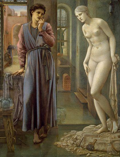 Edward Burne-Jones - Pygmalion en het Beeld - De Hand