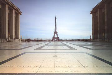 Trocadero Eiffeltoren Parijs van Dennis van de Water