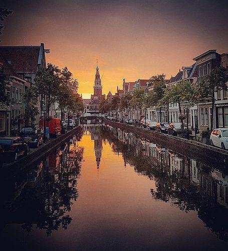 Alkmaar in de avond van Niels Krommenhoek