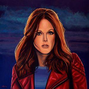 Julianne Moore schilderij