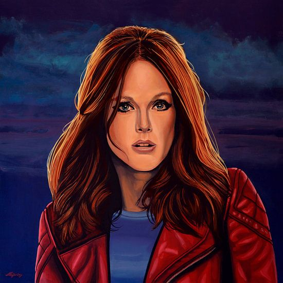 Julianne Moore schilderij van Paul Meijering