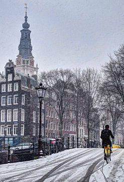 Amsterdam hiver Kloveniersburgwal sur Hendrik-Jan Kornelis