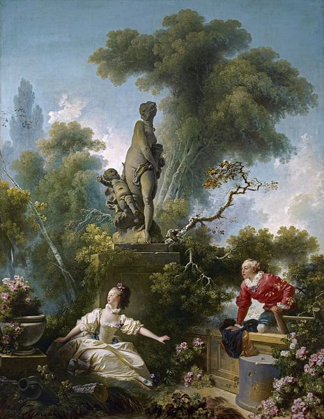 Jean-Honoré Fragonard - Les Progrès de l'amour van 1000 Schilderijen