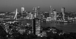 Rotterdam skyline in zwart-wit van Dirk Jan Kralt