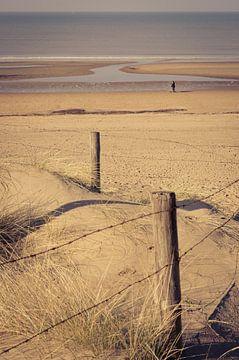 Strandwandeling bij Katwijk aan Zee van Sven Wildschut