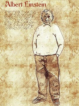 Albert Einstein van Printed Artings