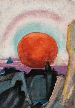 Oscar Florianus Bluemner--Erde geht zum Mond unter