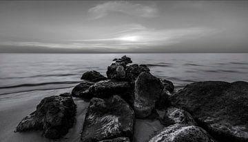 Het strand van Ras al-Khaimah. van Pieter van Roijen
