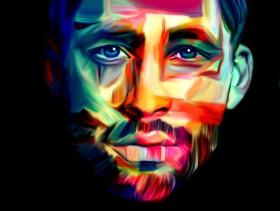 Just Face - Portrait - Pop Art van Felix von Altersheim