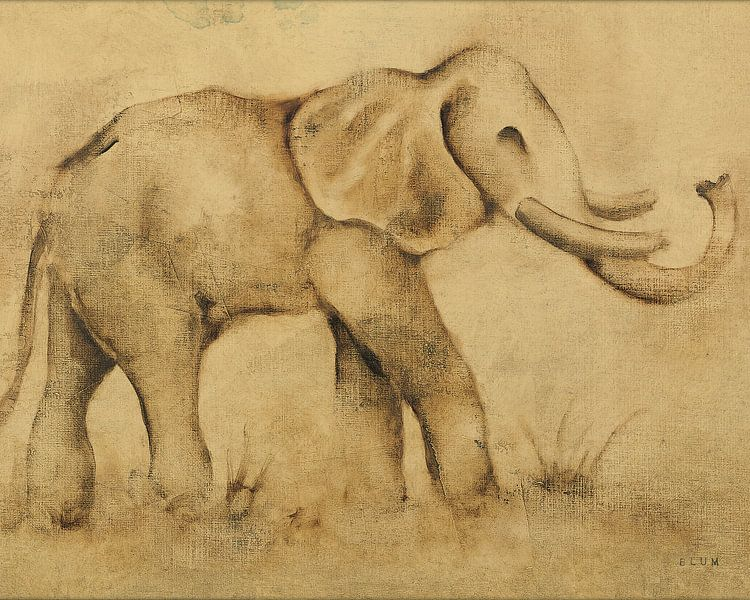 Globaler Elephant Licht Crop, Cheri Blum von Wild Apple