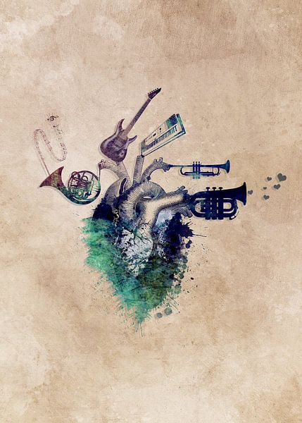 Music my love #music van JBJart Justyna Jaszke