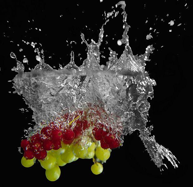 fruit met een splash