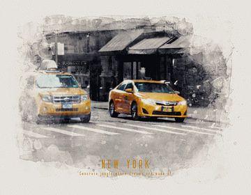 Taxi à New York sur Christa van Gend