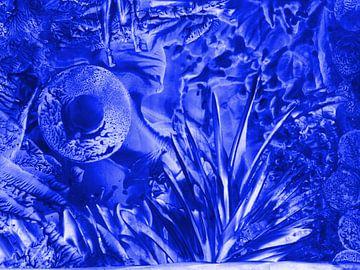 Die Befruchtung - blau van Katrin Behr