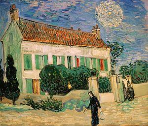 Weißes Haus bei Nacht, Vincent van Gogh