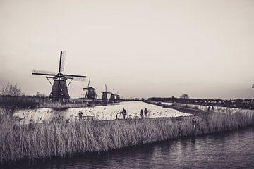 Die Mühlen in Kinderdijk von Koen Bluijs