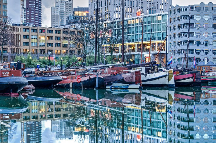 Historische schepen in de Oude Haven van Frans Blok