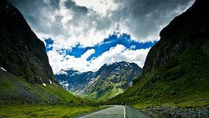Route dans le Fiordland - Nouvelle-Zélande
