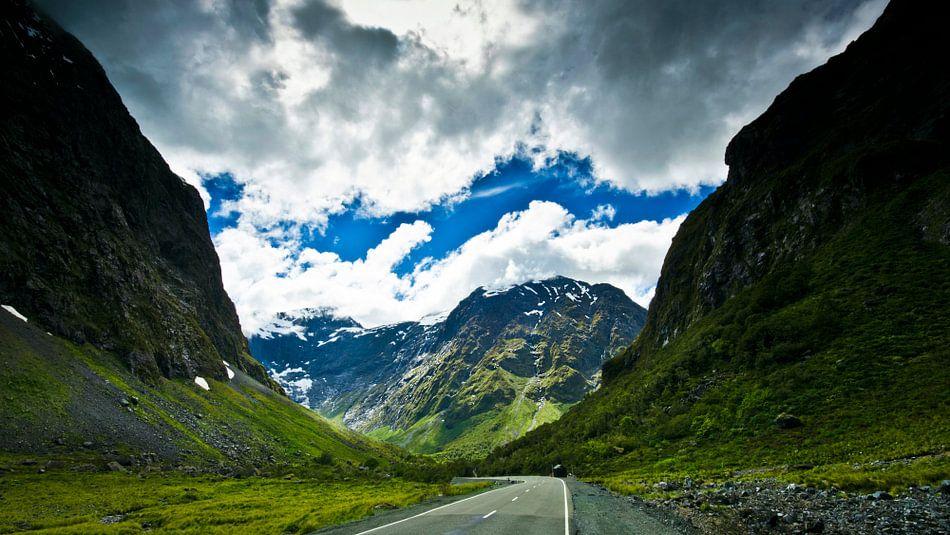 Road in the Fiordland - Nieuw Zeeland