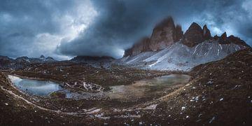 Dolomieten Drie Pieken Panorama van Jean Claude Castor