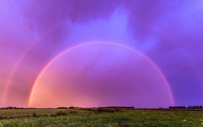 Dubbele regenboog van Ellen van den Doel
