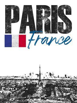 Paris France sur Printed Artings