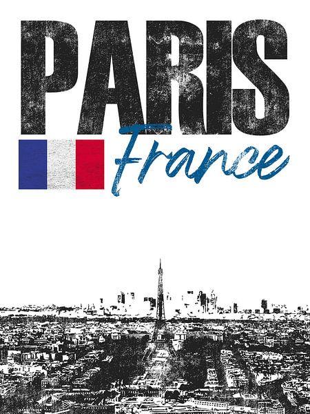 Parijs Frankrijk van Printed Artings