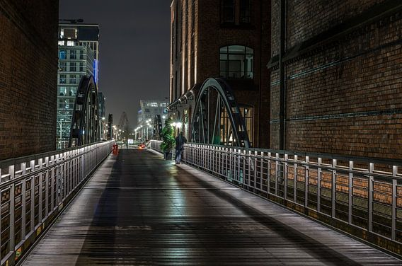 Speicherstadt Brücke van Diane Jordan