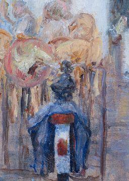 Fahrrad mit Gepäcktaschen von Paul