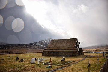 Eglise de tourbe dans le nord de l'Islande sur Elisa Hanssen