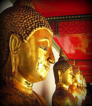 Thaise tempel boeddha van Kim van de Wouw