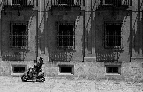 Scooter in Madrid von Rob Vandam