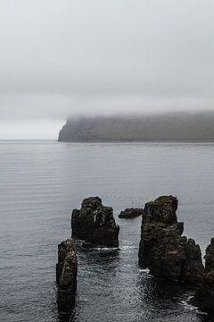 Rotsen in het water op IJsland van Jan Schuler