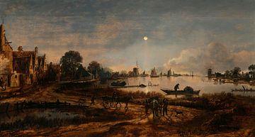 Flussansicht bei Mondschein, Aert van der Neer