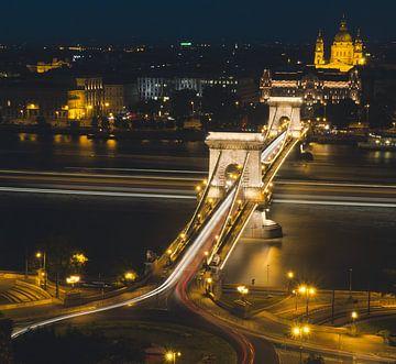 Kettenbrücke über die Donau in Budapest von Márton Gutmayer