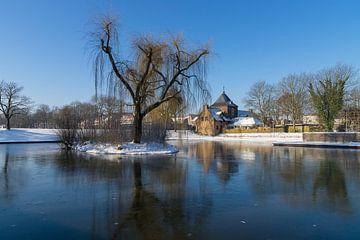 kasteel meezenbroek gezien vanuit het park van Francois Debets